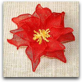 5_handmade_red_linen_flower