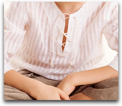 boys simple linen shirt